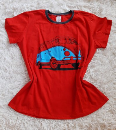 T-shirt Feminina no Atacado Kombi