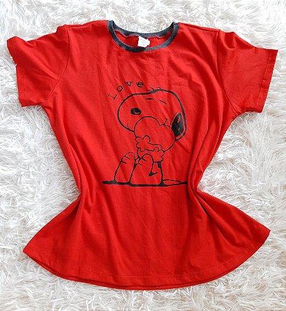 T shirt Feminina no Atacado Snoopy