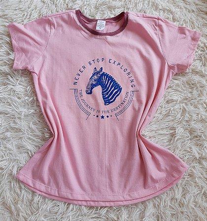 T-Shirt Feminina no Atacado Zebra