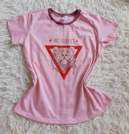 T-Shirt Feminina Para Revenda Tigre