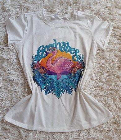 Blusa Blusa Feminina Para Revenda Flamingo Good Vibes