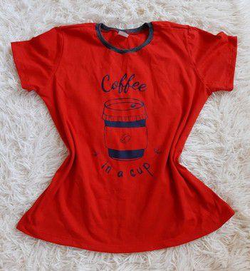 T shirt Feminina no Atacado Coffee