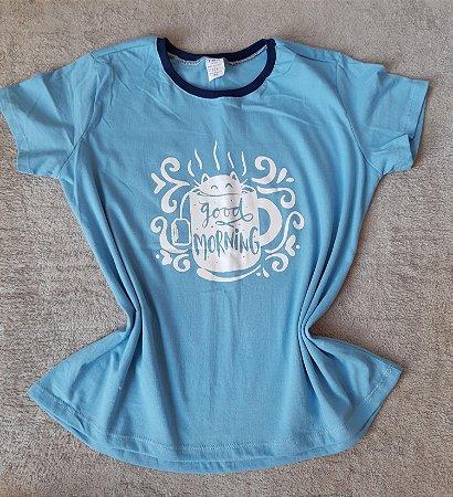 T-Shirt Feminina no Atacado Cat Xícara
