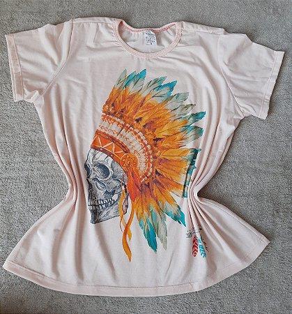 T-Shirt Feminina no Atacado Caveira