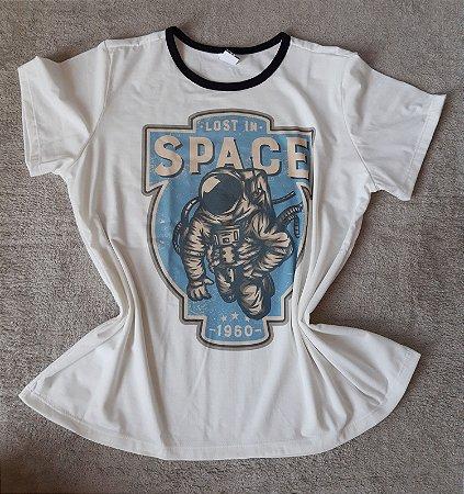 T-Shirt Feminina no Atacado Astronauta
