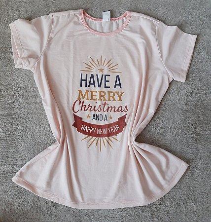 T-Shirt Feminina no Atacado Natal Merry Christmas
