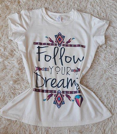 T shirt Feminina no Atacado Follow Your Dreams