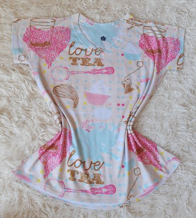 T-shirt Feminina no Atacado Elementos Love