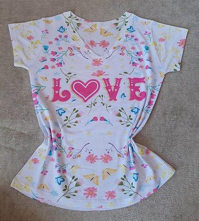 T-Shirt Feminina no Atacado Love