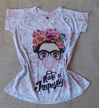 Tee Feminina no Atacado Frida Chiclete