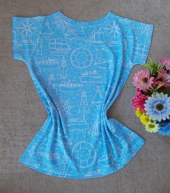 T Shirt Feminina Para Revenda Elementos Marítimos