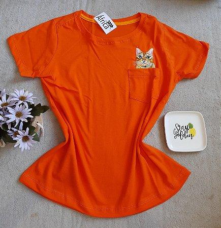 T Shirt Feminina no Atacado Cat Bolso