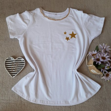 T-Shirt Feminina no Atacado Estrelas