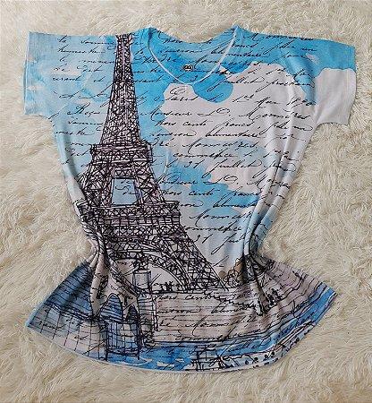 T-Shirt Feminina no Atacado Paris Torre Grande