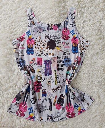 Regata Feminina no Atacado Elementos Fashion