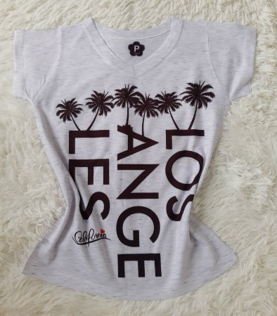 T-Shirt Feminina no Atacado Los Angeles