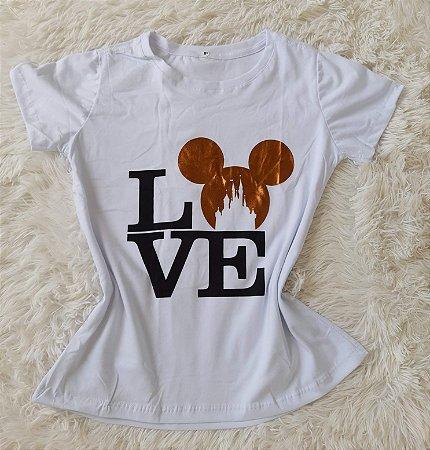 Blusa Feminina no Atacado Love Mickey Branca