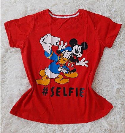 Blusa Feminina no Atacado Mickey Donald Selfie
