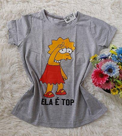 T-Shirt Feminina Para Revenda Lisa Grande