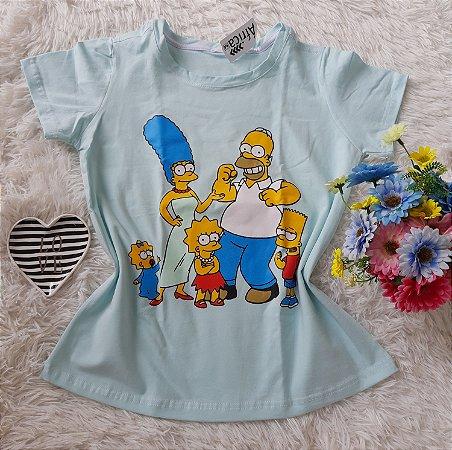 Tee Feminina Para Revenda Os Simpsons