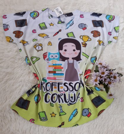 Blusa Feminina no Atacado Professora Coruja