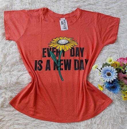 T-shirt Feminina Para Revenda Girassol