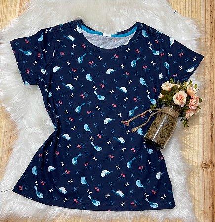 Blusa Feminina Para Revenda Pássaros