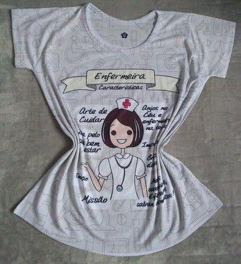 T Shirt Profissão Para Revenda Enfermeira