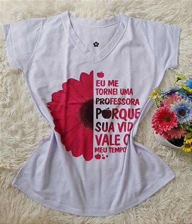 T-Shirt Profissão No Atacado Professora Girassol