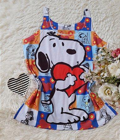 Regata Feminina no Atacado Snoopy Coração