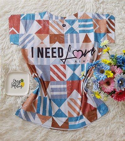T-Shirt Feminina no Atacado I Need Love