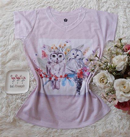T-Shirt Feminina no Atacado Corujas