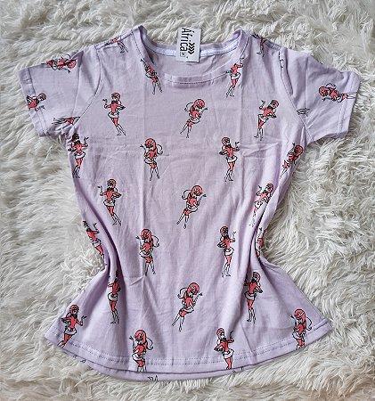 T-shirt  feminino no atacado  penelope charmosa lilás