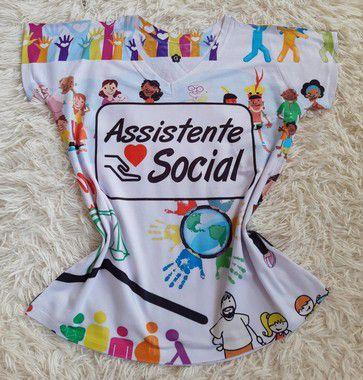 Tee Profissão Para Revenda Assistente Social