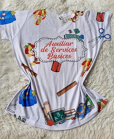 T-Shirt Feminina No Atacado Auxíliar de Servicos Básicos