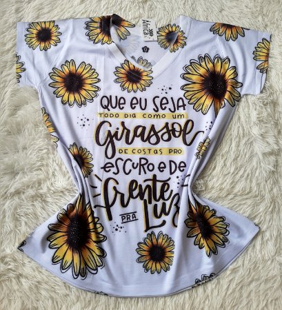 T-Shirt Feminina No Atacado Girassol