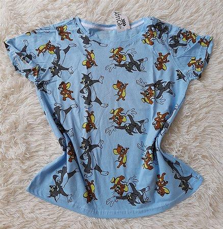T shirt Feminina no Atacado Tom e Jerry