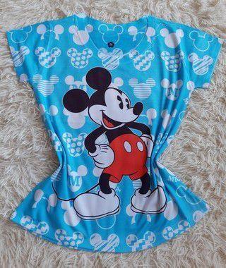 Blusa Feminina no Atacado Mickey Fundo Azul