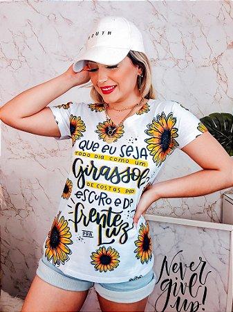 T-Shirt No Atacado Girassol
