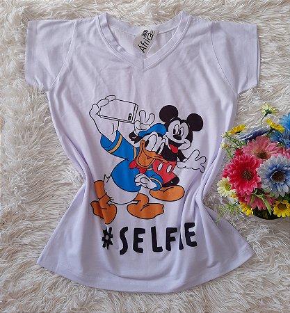Blusa Feminina no Atacado Donald Mickey Selfie