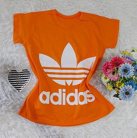 T-Shirt Feminina  Adidas Laranja
