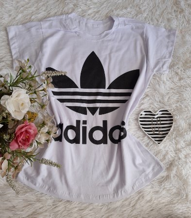 T-Shirt Fminina No Atacado Adidas Branco