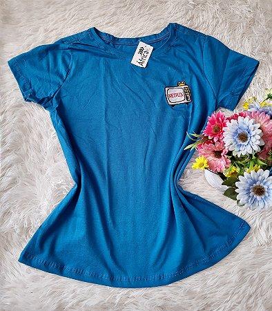 T-Shirt Feminina No Atacado Netflix Azul