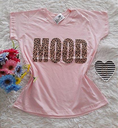 T-Shirt Feminina No Atacado Mood Fundo Rosa