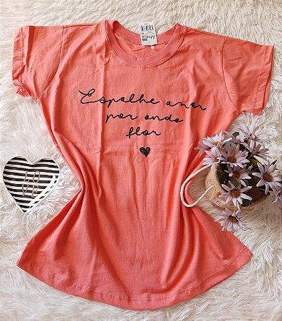 Camiseta no Atacado Espalhe Amor Rosa