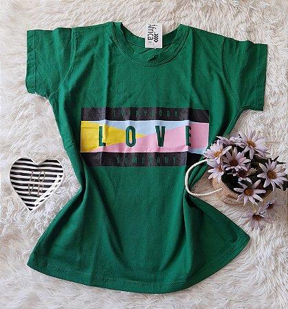 Camiseta no Atacado Love Verde