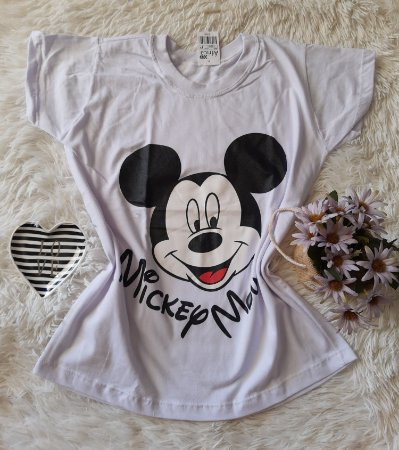 Camiseta no Atacado Mickey Rosto Branco