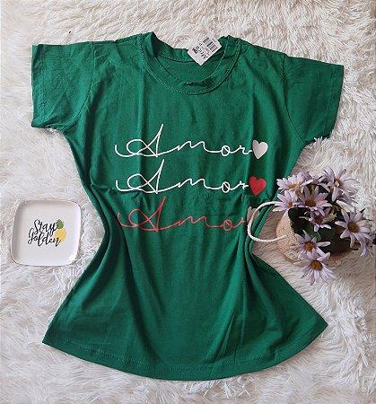 Camiseta no Atacado Amor Verde