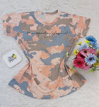T Shirt no Atacado Good Vibes Tie Dye