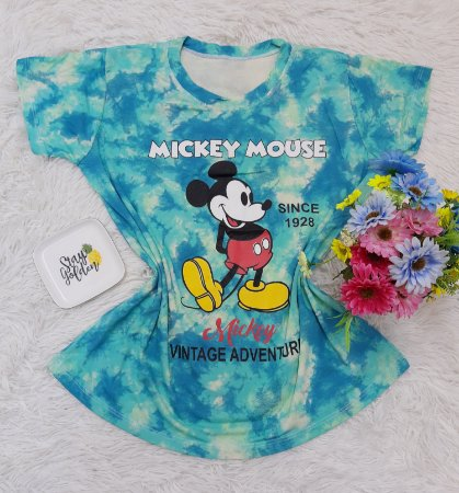T Shirt no Atacado Mickey Mouse Azul